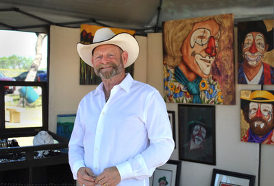 Cowboy at outdoor art event